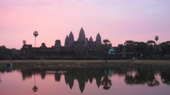 Sunrise at Angkor Wat near Seam Reap in Cambodia