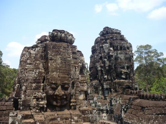 Faces of Bayon in Angkor near Seam Reap, Cambodia