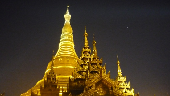 Yangon's Shwedagon Palace in the night time (Myanmar)