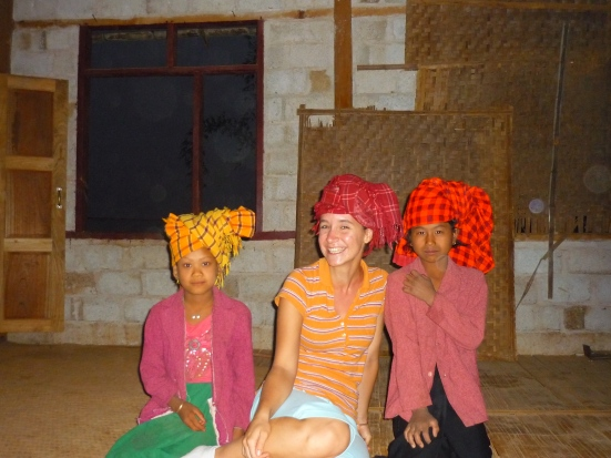 For the two minutes it took to take this photo, I wore the symbolic Pao head-dress of 'union' and became a 'taken, married' woman in Myanmar (Burma)