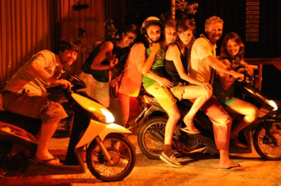 Fun and Friends on motorcycle in Koh Samui, Thailand